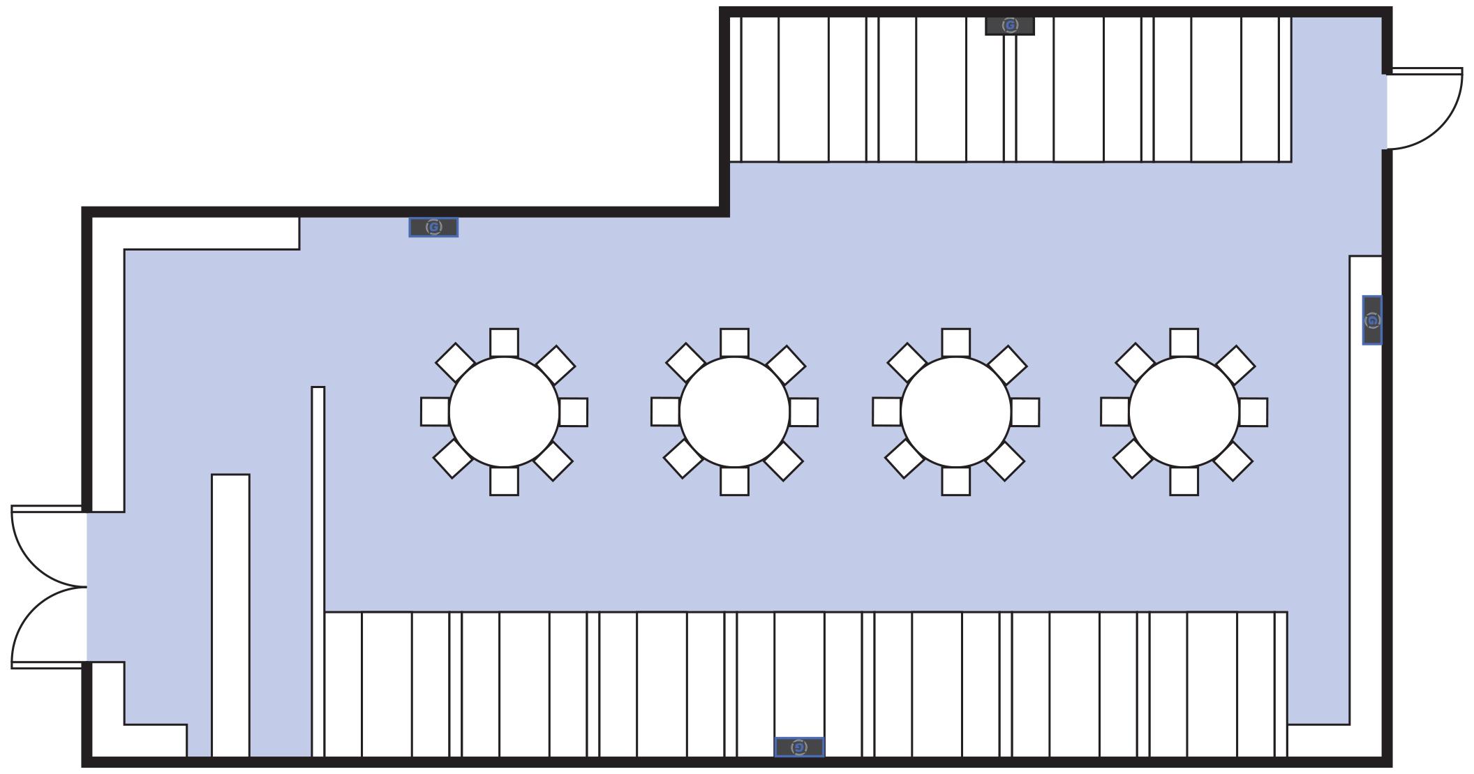 Germzone Installation on a Restaurant Area