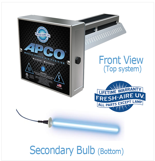 DUAL APCO UV LIGHT AIR PURIFIER